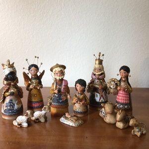 Handmade Clay Nativity Set
